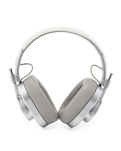 MH40 Over-Ear Headphones  White/Silvertone