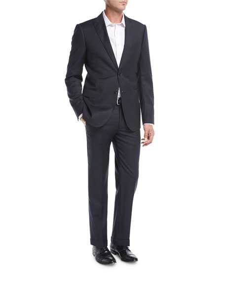 Armani Collezioni Plaid Wool Two-Piece Suit