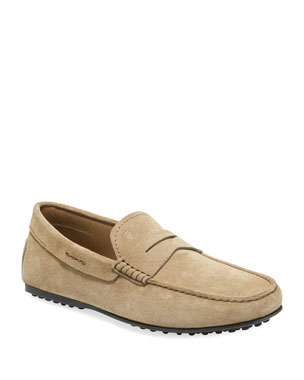 ec689bc13a1 Tod s Men s Slip-On Suede Penny Drivers