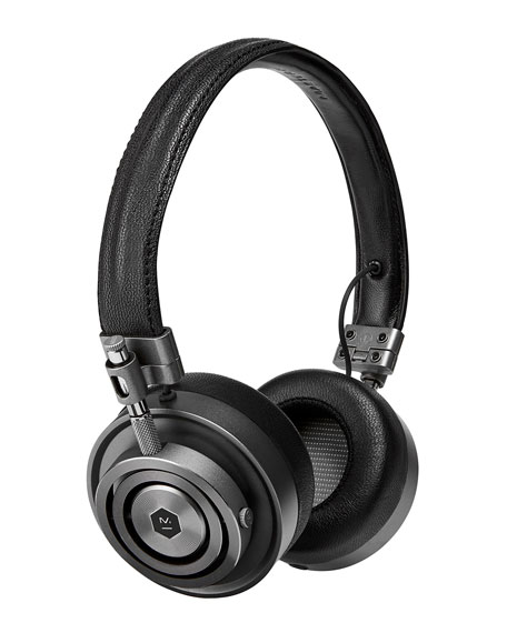 Master & Dynamic MH30 On-Ear Headphones, Black/Gunmetal