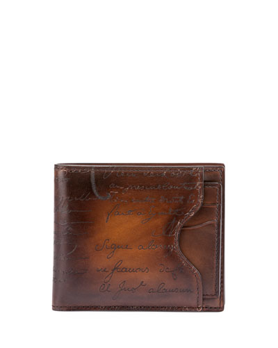Scritto Bifold Wallet/Card Case, Tobacco