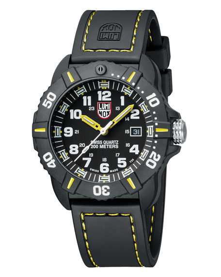 44mm Sea Series Coronado 3025 Watch, Yellow