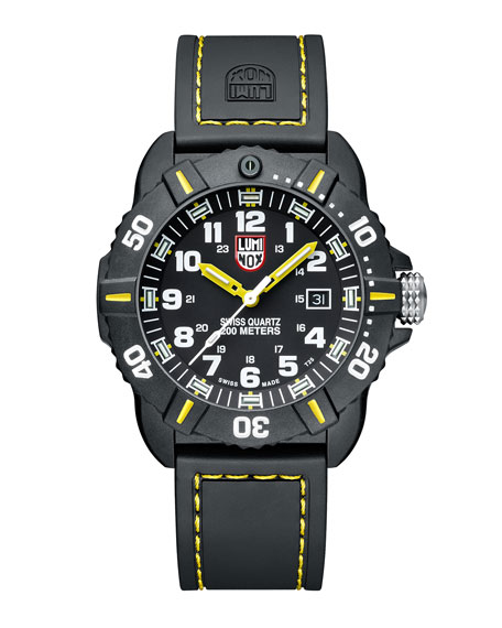 44mm Sea Series Coronado 3025 Watch, Yellow