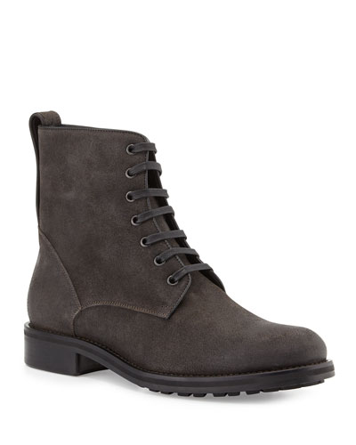 Men's Carter Waxed Carbon Lace-Up Boot, Charcoal