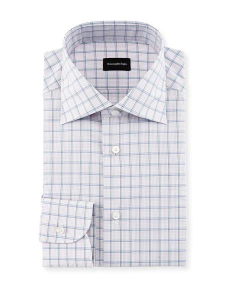 Bold Grid Check Dress Shirt