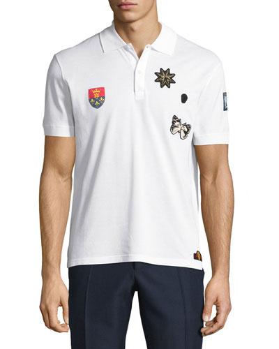 Logo-Patch Piqué Polo Shirt