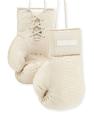 Python Boxing Gloves, Cream
