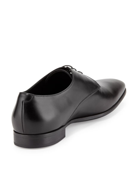 Leather Lace-Up Dress Shoes, Black