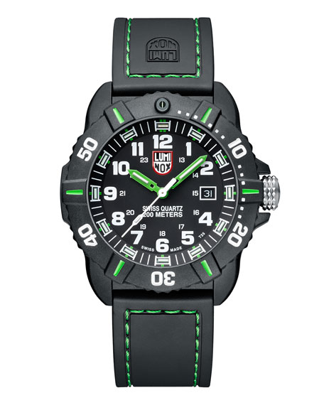 Luminox 44mm Sea Series Coronado 3037 Watch, Green
