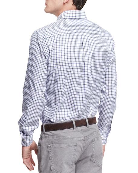 NanoLuxe Multi-Tattersall Sport Shirt, Cabernet