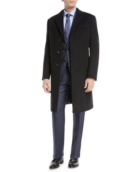 Single-Breasted Wool Top Coat
