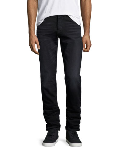 Blake Parallax Slim-Straight Jeans, Black