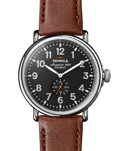 47mm Runwell Men's Watch  Cool Gray/Cognac
