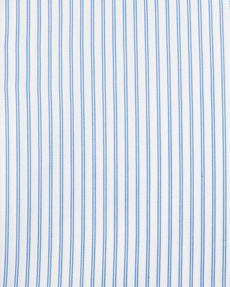 Trofeo® Double-Stripe Dress Shirt, White/Blue