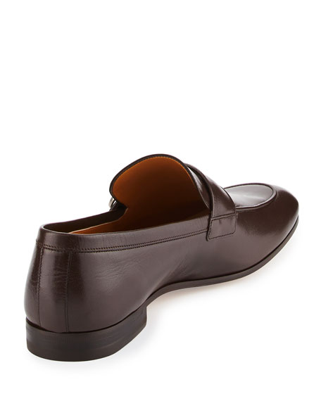 Donnie Leather Loafer w/GG