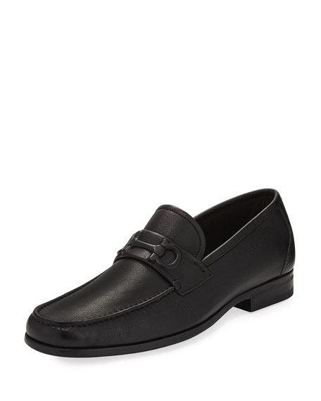 Calfskin Gancini Loafer, Black