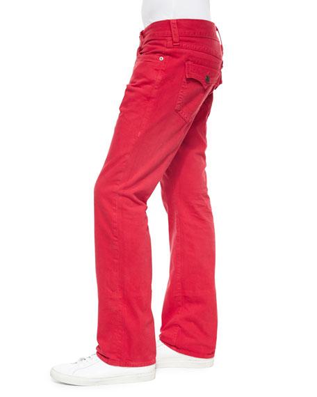 Ricky Slim-Fit Denim Jeans, Red