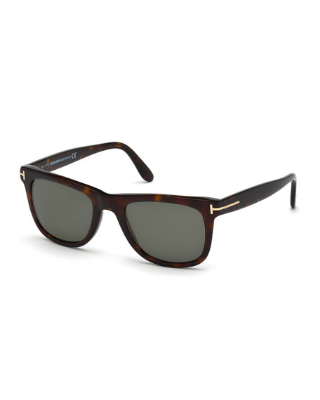 Leo Polarized Universal-Fit Sunglasses, Havana