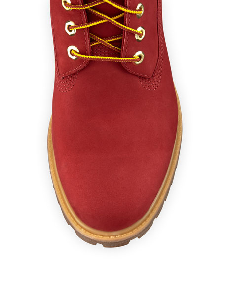 timberland boots red