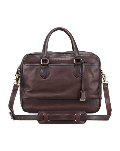 James Computer Bag, Dark Brown