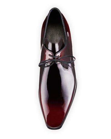 Arca Patent Leather Derby Shoe, Raspberry