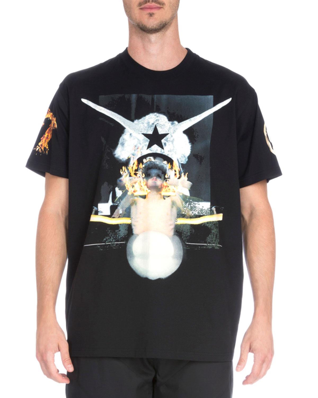 44254d05e Givenchy Skull Print T Shirt - Nils Stucki Kieferorthopäde