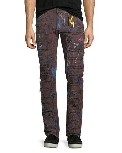 Super Distressed Denim Jeans