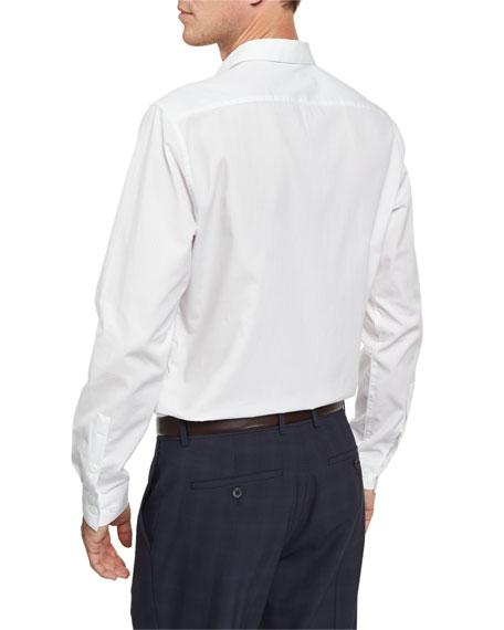Zack PS Norwich Tonal Jacquard Sport Shirt, White