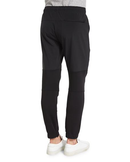 Dryden Two-Tone Jogger Pants, Black