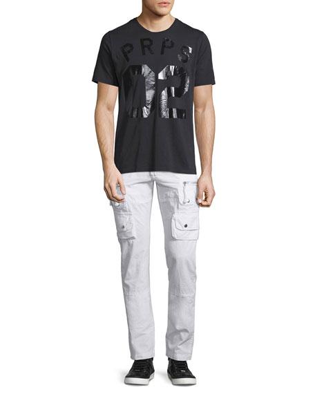 Slim-Fit Cargo Pants, White