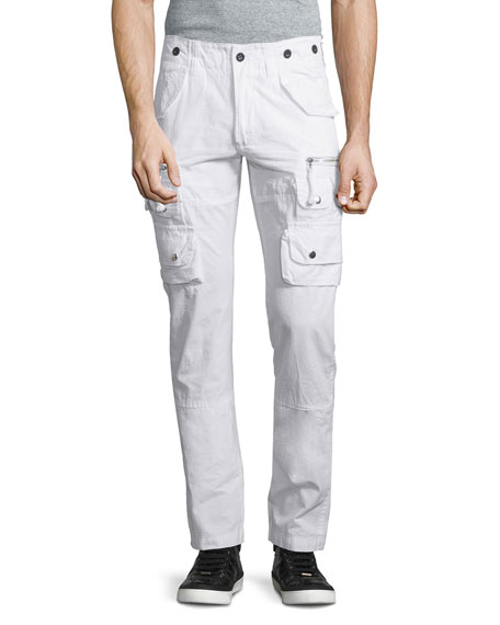 PRPS Slim-Fit Cargo Pants, White