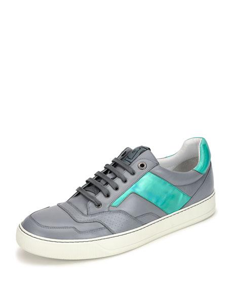 Lanvin Men's Hologram Leather Low-Top Sneaker