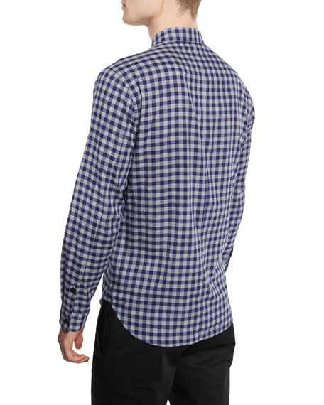 Bariet Check Long-Sleeve Sport Shirt, Inkwell Multi