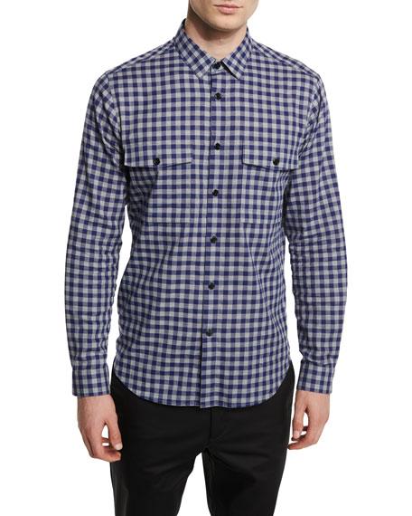Bariet Check Long-Sleeve Sport Shirt, Inkwell Multi