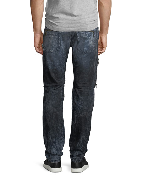 Racer Silver-Coated Jeans