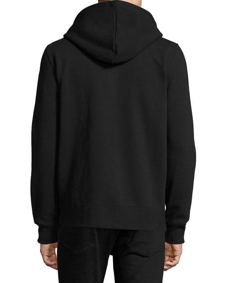 Claredon Jersey Hoodie w/Check Lining, Black