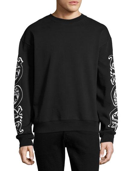 McQ Alexander McQueen Goth Tattoo Oversized Sweatshirt, Darkest