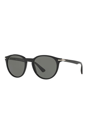Persol Men's Round Acetate Sunglasses