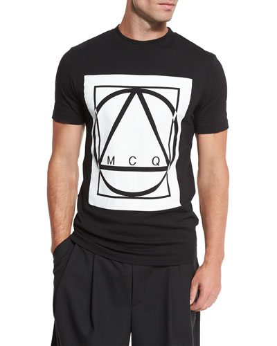 Glyph Icon Jersey T-Shirt, Black
