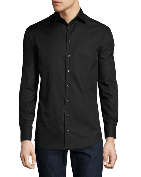 Giorgio Armani Basic Sport Shirt, Black