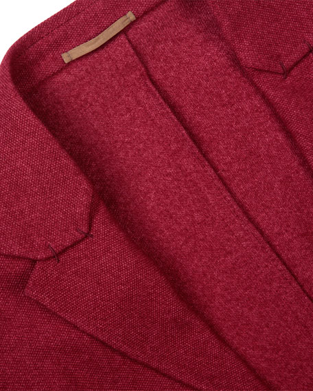 Soft Two-Button Jacket, Red