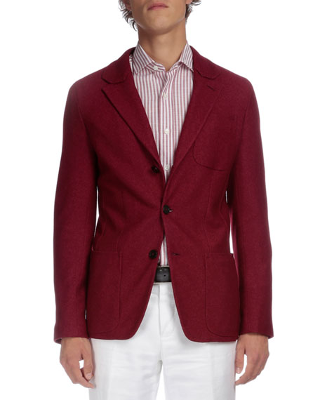 Berluti Soft Two-Button Jacket, Red