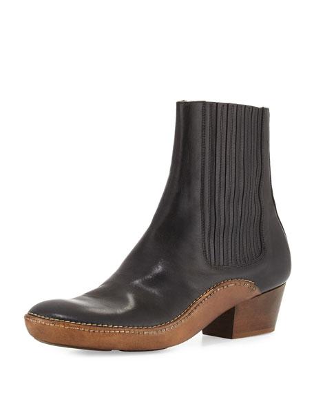 Maison Margiela Runway Cowboy Chelsea Boot, Black