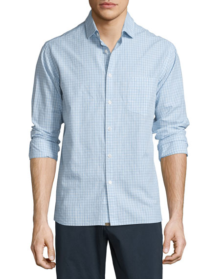 Billy Reid John Check Woven Sport Shirt, Light
