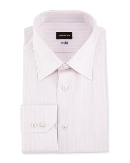 Ermenegildo Zegna 100Fili Striped Dress Shirt