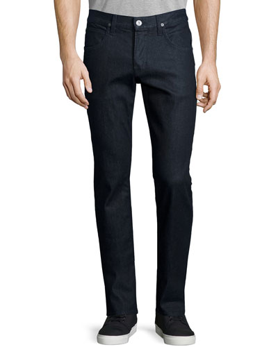 Blake Broadcast Slim-Straight Jeans, Dark Blue
