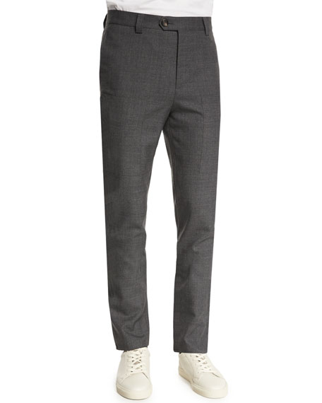 Brunello Cucinelli Para New Wool Cargo-Pocket Pants, Medium