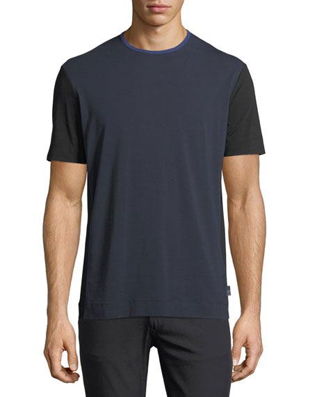 Armani Collezioni Colorblock Short-Sleeve Knit T-Shirt