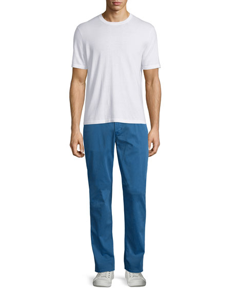 Blake Seascape Slim-Straight Twill Pants, Blue