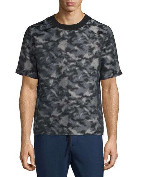 Public School Camouflage-Print Short-Sleeve T-Shirt